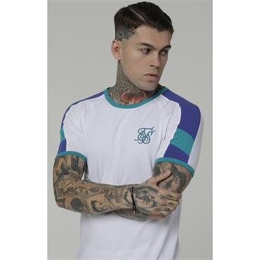 Shelly Gym Tee - White/Purple/Teal