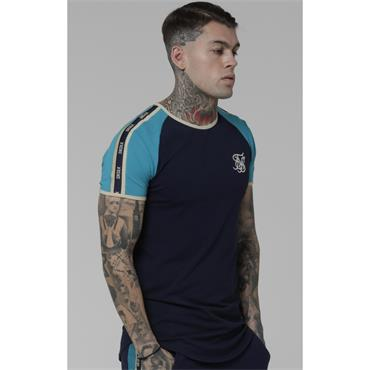 Contrast Gym Tee - Navy And Teal