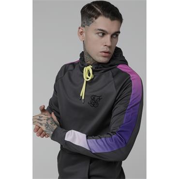 Poly Overhead Fade Panel Hoodie, Urban Grey & Neon Tri Fade - Sik Silk