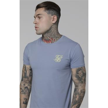 S/S Gym Tee, Blue Denim - Sik Silk