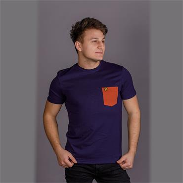 Contrast Pocket T-Shirt - Navy