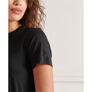 Superdry Drawstring Tshirt Dress - Black