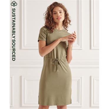 Superdry Drawstring Tshirt Dress - Moss Khaki