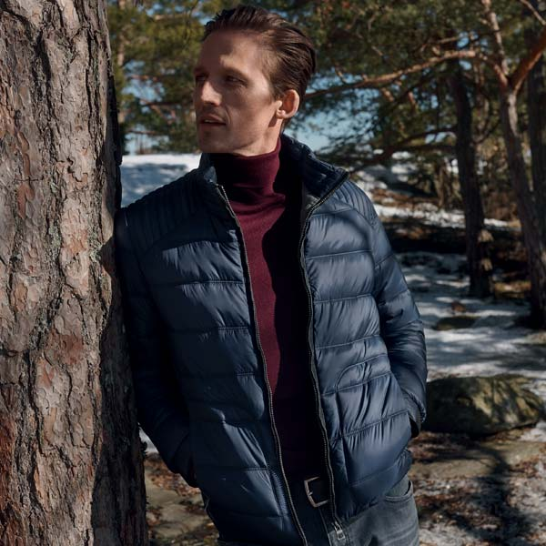 Man outdoors in jacket