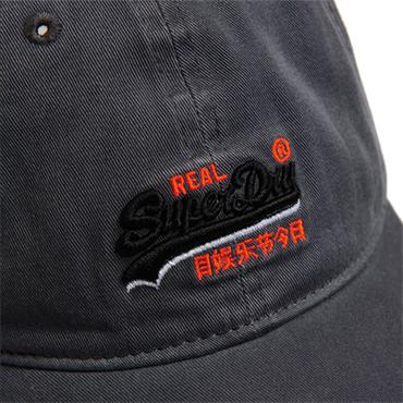 ORANGE LAB. WASH TWILL CAP S/DRY - GREY