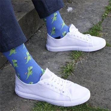 Swole Panda T-Rex Socks - 10 BLUE