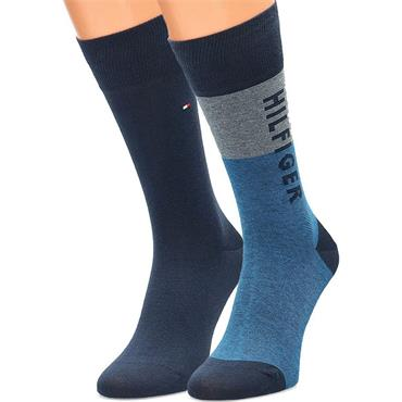Tommy Hilfiger Socks 2 Pack - Blue - 10 Blue