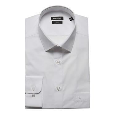 REMUS NON TAPERED SHIRT - 01 WHITE