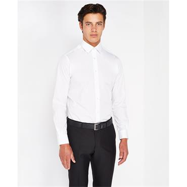 SEVILLE TAPERED FIT SHIRT REMUS - 01 WHITE