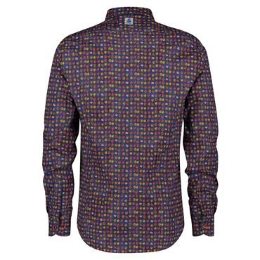 Fish Named Fred Modern Shirt - Navy