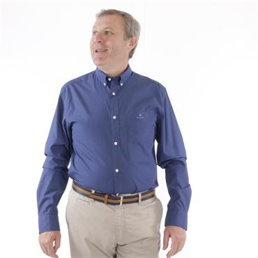Gant Micro Dot Print Casual Shirt - Deep Blue