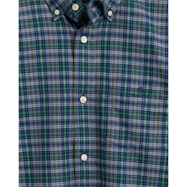 Gant Oxford Indigo Check Shirt - Ivy Green