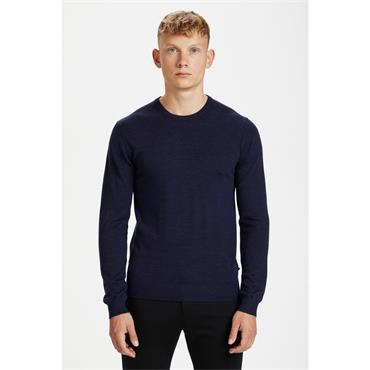 Matinque Crew Neck Jumper - BLUE