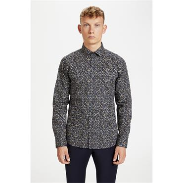 Matinique Printed Shirt - Navy