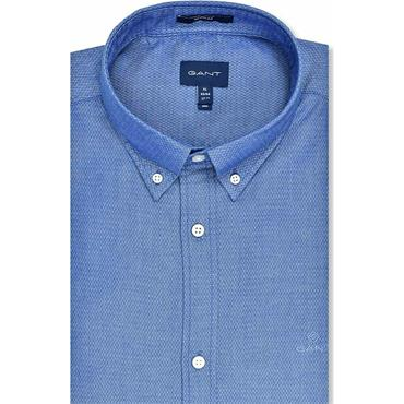 Gant Dobby Regular Shirt - BLUE