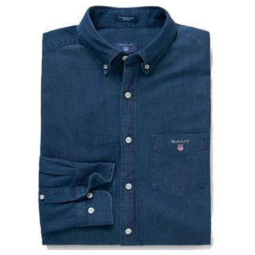 INDIGO REG BD Shirt   GANT - DARK INDIGO