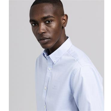 Gant Fil A Fil Check Shirt - BLUE