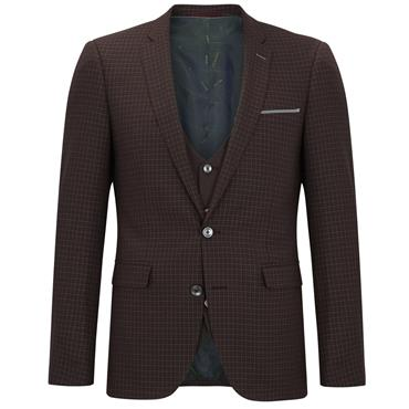 Wine 3pc Extra Slim Suit By Remus
