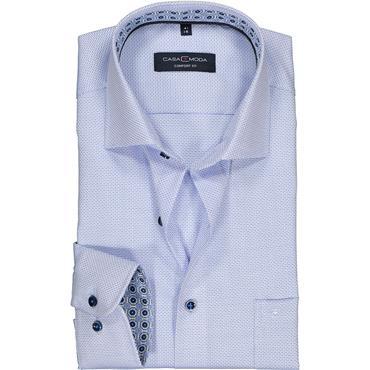 Kent Comfort Fit Long Sleeve Shirt - BLUE