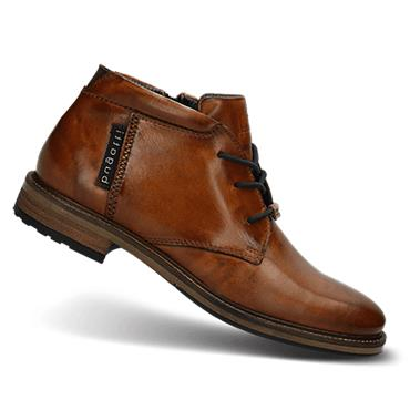 Lace Up Leather Boot - DK BROWN