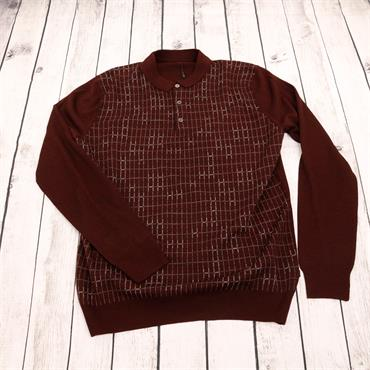 Long Sleeve Polo Shirt - 689 Dark Wine