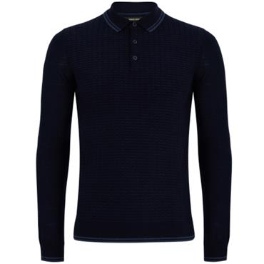 Knitted Polo LS - 24 ROYAL BLUE