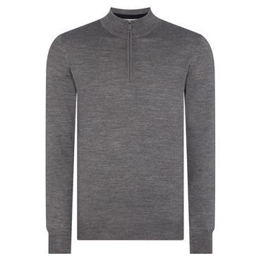 Half-Zip Premium Sweater - GREY