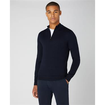 Half-Zip Premium Sweater - Navy