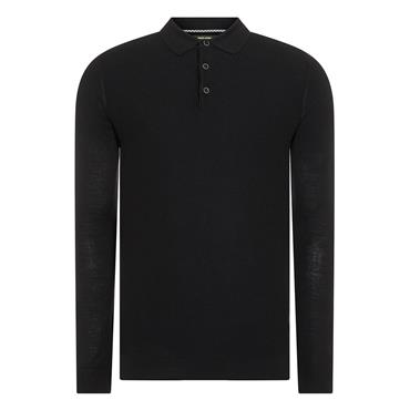 Knitted Polo - 00 BLACK
