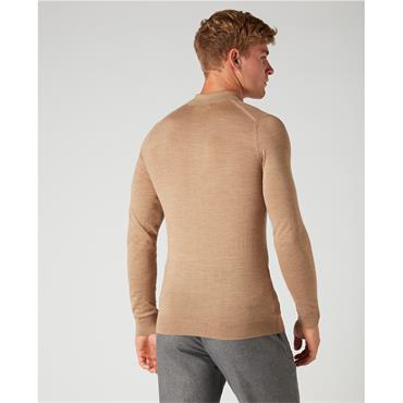 Knitted Polo - 43 CAMEL