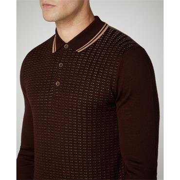 LS Knitted Polo - 68 BURG