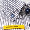 Modern Print Design Shirt - Red Blue Design