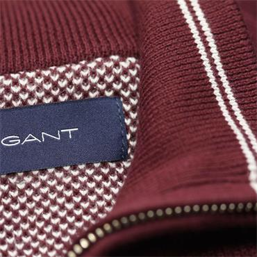 Gant Half Zip Pique - Port Red