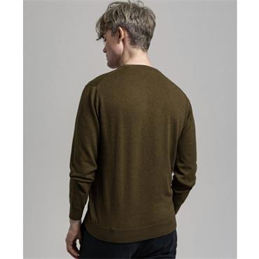 Gant Crew Neck Cotton Jumper - Hazelnut Melange