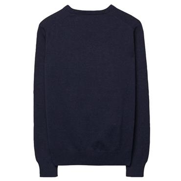 V NECK LT. WEIGHT COTTON JUMPER GANT - DK.DENIM