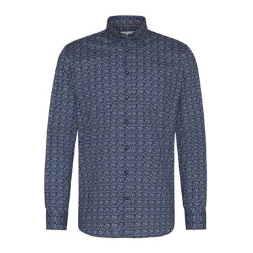Print Design Shirt - Navy