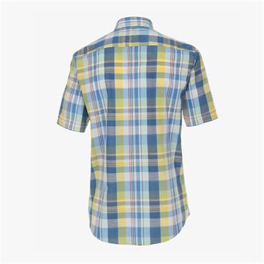 Multi Coloured S/S Check Print Shirt - MULTI STRIPE