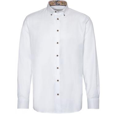Bugatti Long Sleeve Shirt - 10 White