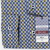 Dario Beltran Regular Fit - Blue & Yellow Print