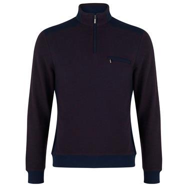 Biden Quarter Zip Sweater - Burgundy