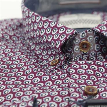 Dario Beltran Slim Fit - Rasberry Print Fancy