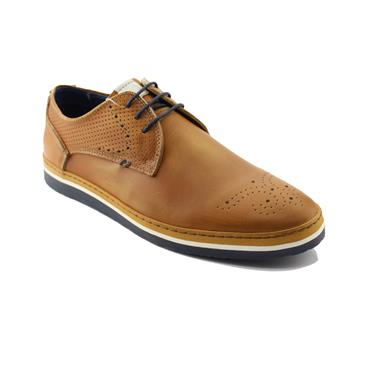 CLEVEDON SHOES   BRENT POPE - COGNAC