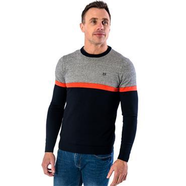 Clontarf Sweater - Navy Grey