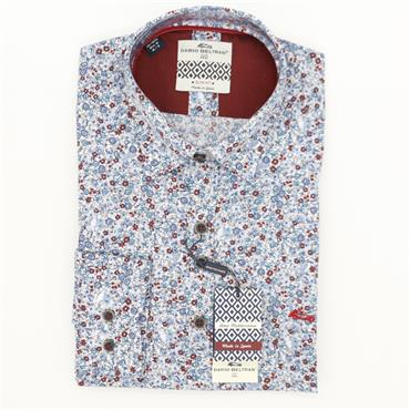 Dario Beltran Slim Fit - Blue Red Small Flower