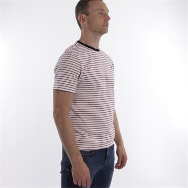 Xv Kings Stripe Tee - Rasberry Split
