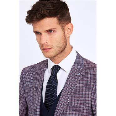 Benetti Slim Fit 3pc Suit - WINE