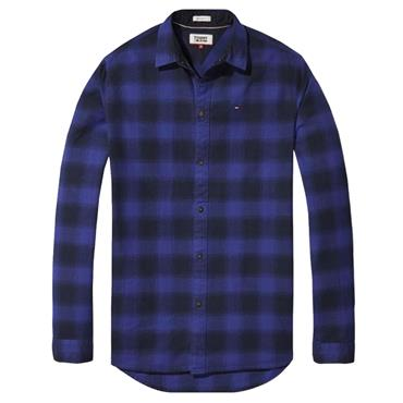 ESS. FLANNEL CHECK SHIRT  TJM - 428 BLUE
