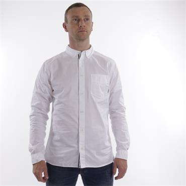 SOLID TWILL  SHIRT  TJM - 100 WHITE