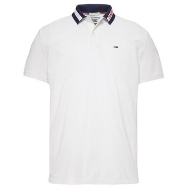 TIPPED COLLAR  POLO SHIRT  TJM - 100white