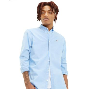 Tommy Jeans Stretch Oxford Shirt - Light Blue